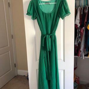 Green Flowy Long Dress